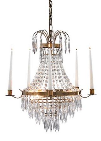 Bild av Markslöjd Krageholm Taklampa 3 Ljus Antik