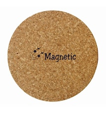 Korkbordskåner med magnetindlæg, rund