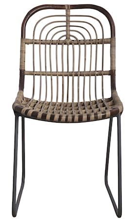 Stol Kawa 46x86 cm - Brun/Metall