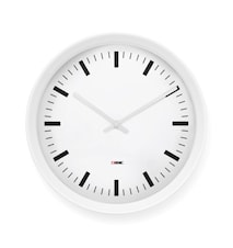 Klocka Aluminium Vit
