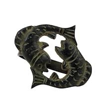 Stjärntecken Fiskarna, brons, servettring