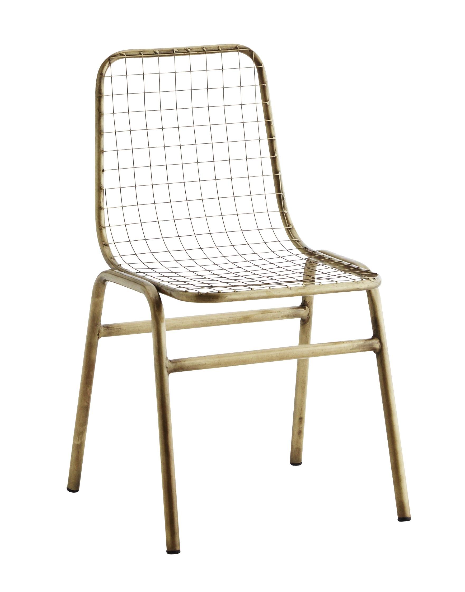 Iron brass antique stol set om 2