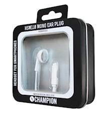 Champion Headset Mono Ear Plug Hvit