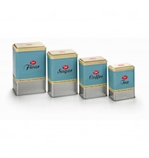 Förvaringsburkar, 4 pack, Retro