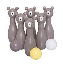 Lekesett Bowling Grå Tre 4,5x16cm 9 deler