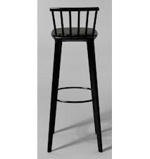 Jackie läder svart barstol – H78