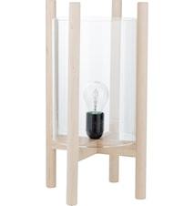 Lampa i trä med glas d23 h39 cm
