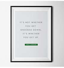 Vince Lombardi quote poster