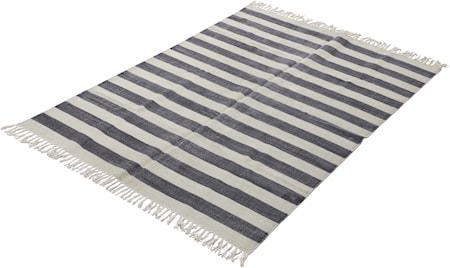 Matta tryckt 140x200 randig grå