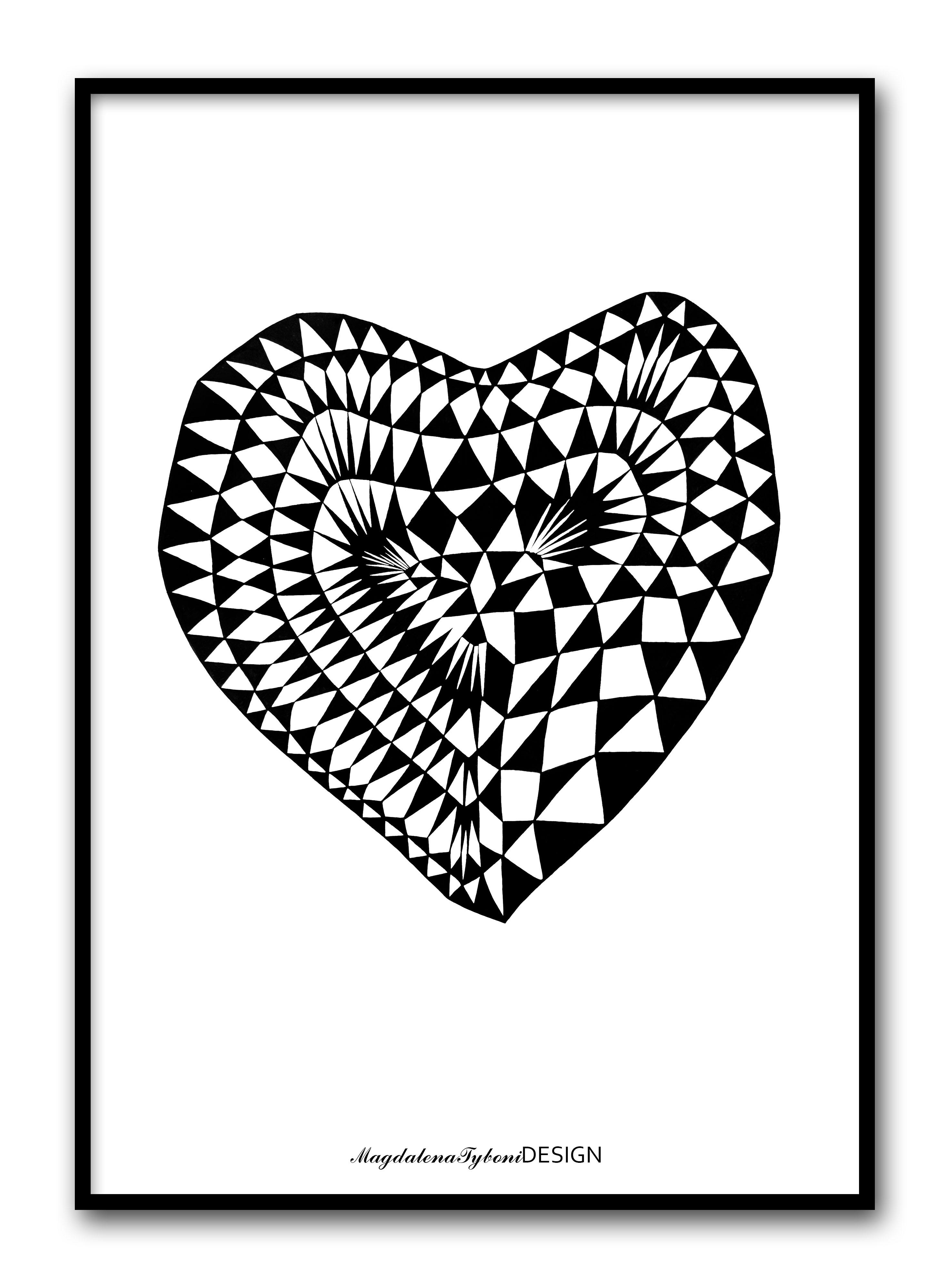 Hjärta ruta - 30x40