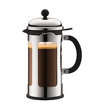 Chambord Kaffepress 8 koppar 1 liter Rostfritt Stål