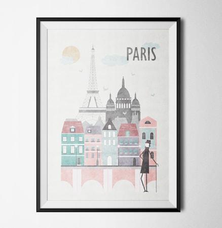 Bild av Konstgaraget Think of paris poster