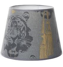Coco tiger lampskärm - Grey