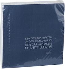Servett citat 40x40, blå