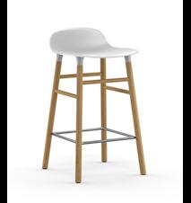 Form Barstol Hvid/Eg 65 cm