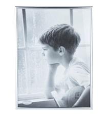 Tavelram Glas/Silver 40x30 cm
