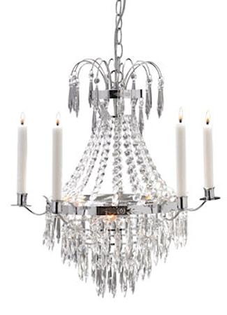Bild av Markslöjd Krageholm Taklampa 3 Ljus Krom