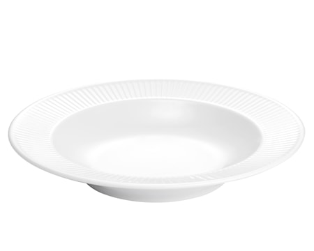 Plissé pastatallerken dyp hvit, 28 cm