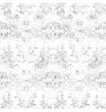 Delft baroque tapet – Almost white