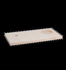 Frukostbricka i trä 39,5x19,5x2cm
