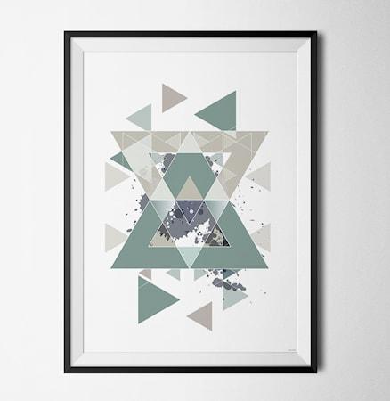 Bild av Konstgaraget Blue geometry 2 poster