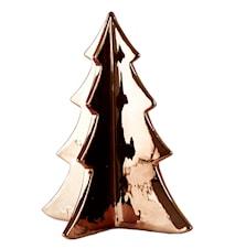 Figur - Træ - Keramik - Bronze - H 21,5cm - L 18,0cm - B 18,0cm - Stk.