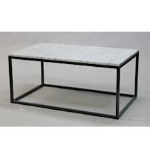 Rektangulär marmor soffbord helkub - 100x60x45
