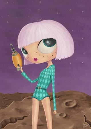 Bild av A Grape Design Scifi poster