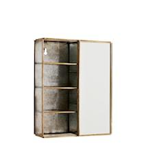 vegghylle med speil 21x6x26 cm - Messing
