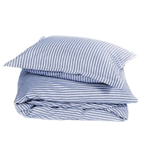 Classic stripe påslakan – Blue