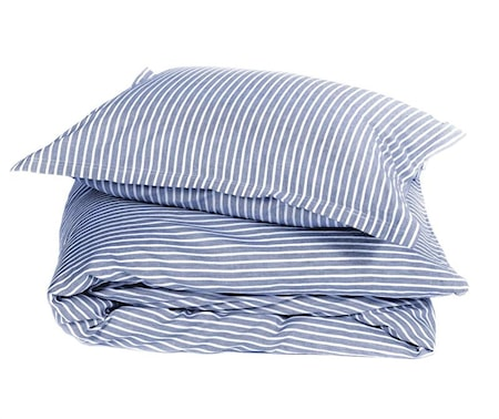 Bild av Pelle Vävare Classic stripe påslakan – Blue