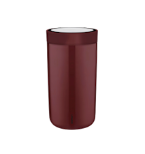 To Go Click Mugg 20 cl Steel Burgundy