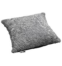 Ace Large Kudde fårskinn/ulltyg 50x50 - Scand Grey/Black