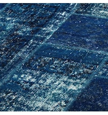 Patchwork Rug Blue Dark