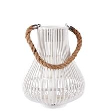 Lanterna med rem Vit 28 cm