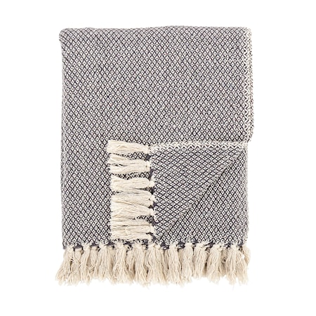 Pläd Grey Cotton