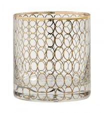 Dricksglas Gold pattern
