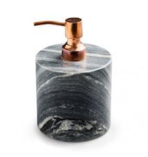 Tvålpump Grå Marmor/Koppar Ø 10 x H 17 cm