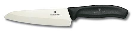 Kockkniv, keramisk, 15 cm i presentask