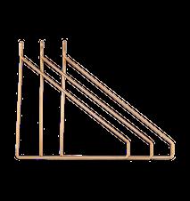Apart Konsol 3-pakk Messingbelagt 25,5x26 cm