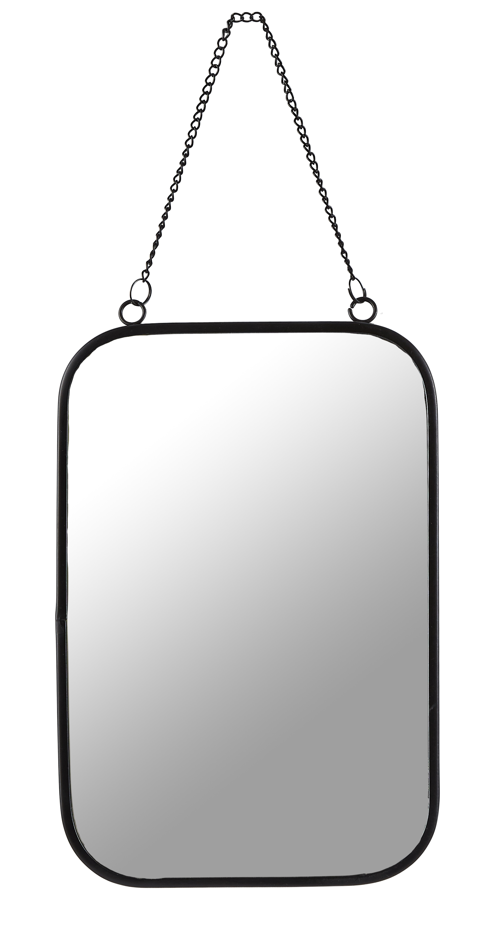 Spegel Metall Svart 30x20 cm