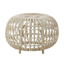 Alu rattan ottoman – Ø65