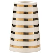 Vas Sailor stripes Ø 6x14 cm - Guld