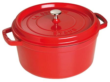 Staub Pyöreä pata 28 cm punainen 6,7 L