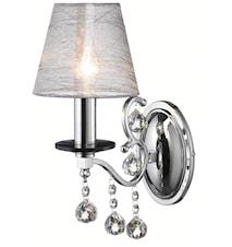 Grensholm Vägglampa 1 Ljus Krom