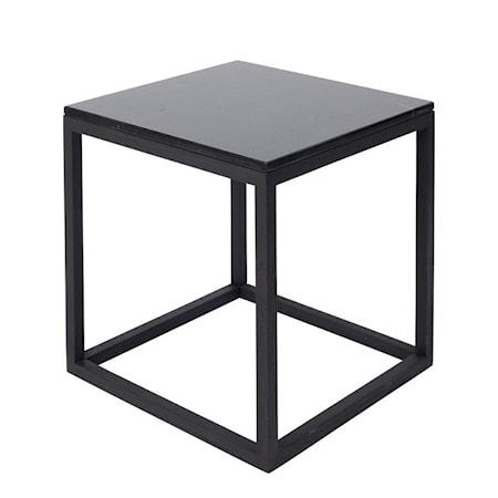 Cube Sidobord Medium Marmor Svart