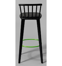 Jackie läder svart barstol – H65