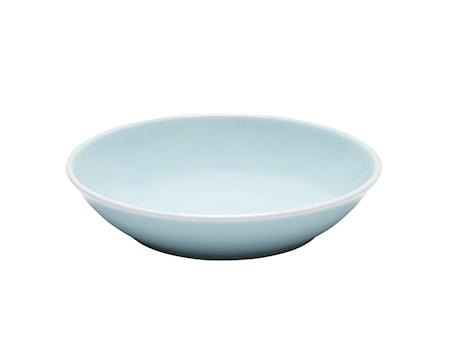 Blå Bretagne tallrik djup ljusblå 20 cm