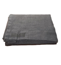 Lovely linen poselagen – Dark grey