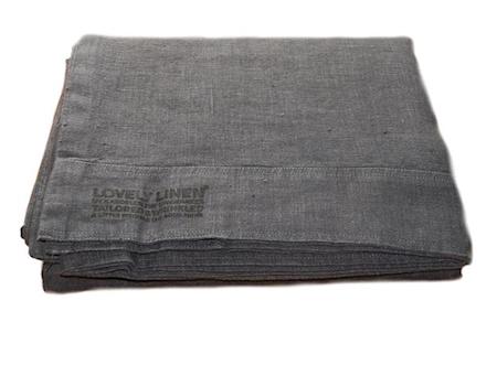 Lovely linen påslakan – Dark grey